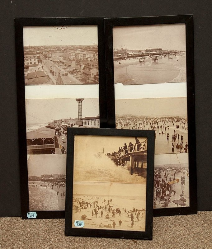 Image for SEVEN VIEWS OF ATLANTIC CITY , NJ SEAFRONT [OR BRIGANTINE] 1900 ANTIQUE PHOTOGRAPHS [LBC]