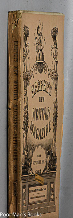 "Image for HARPER'S NEW MONTHLY MAGAZINE. SEPTEMBER, 1892. FEATURING ""LOT NO. 249"""