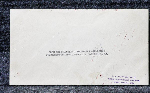 Image for USS ANTARES NAVAL CACHET ADDRESSED TO FRANKLIN D ROOSEVELT FROM HIS STAMP COLLECTION