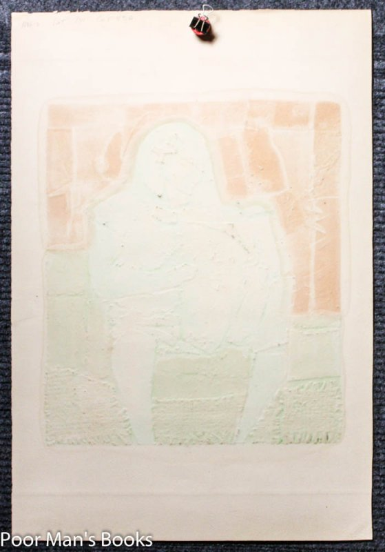 "Image for ""SEATED WARRIOR."" ABSTRACT COLOR PRINT. PROOF, SIGNED"