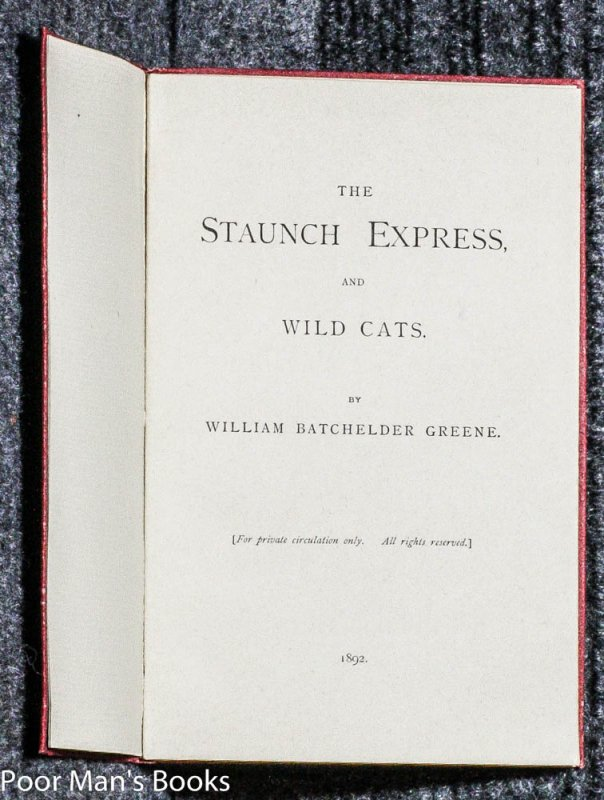 Image for THE STAUNCH EXPRESS AND WILD CATS