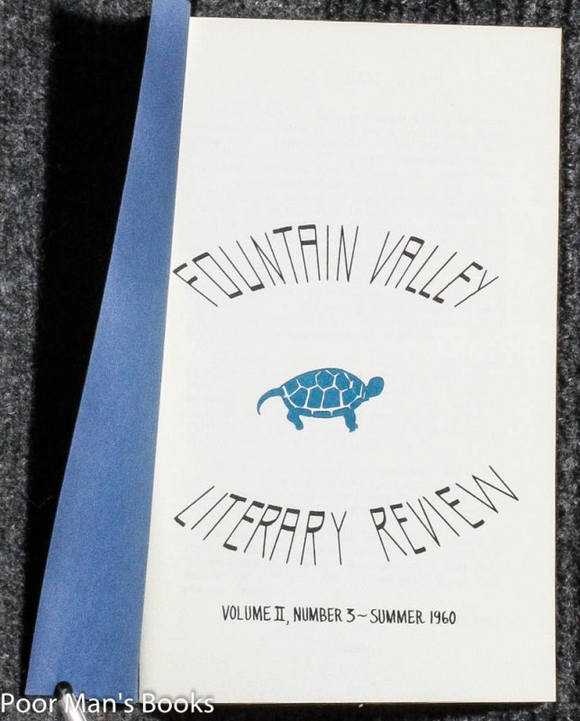 Image for FOUNTAIN VALLEY LITERARY REVIEW 1960 VOL II NR 3 SUMMER