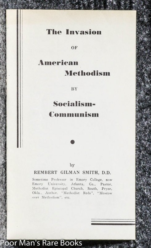 Image for The Invasion Of American Methodism By Socialism-communism