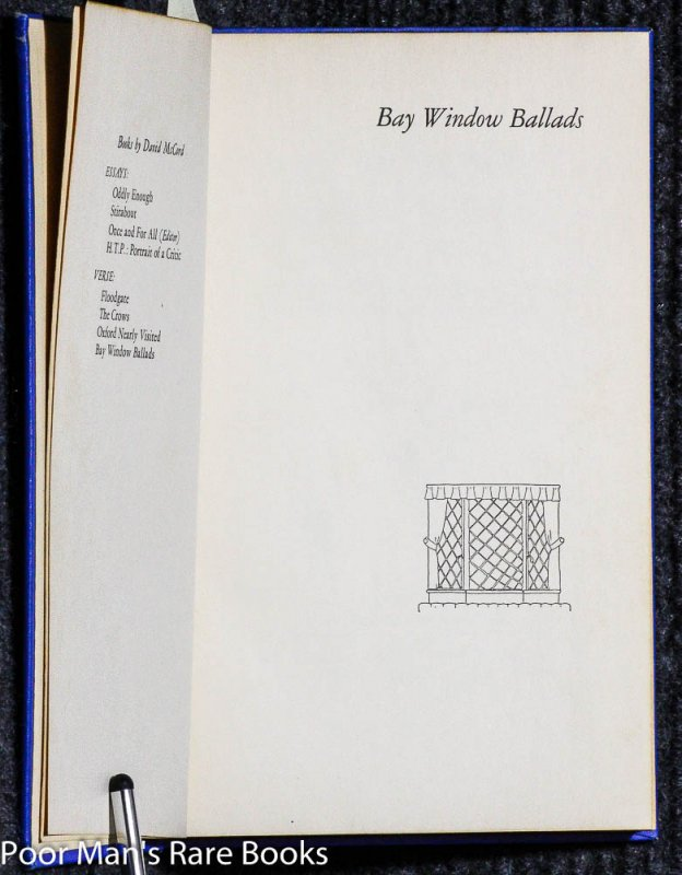 Image for BAY WINDOW BALLADS [SIGNED]