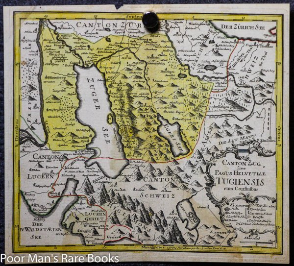 Image for POST INCUNABLE MAP OF SWITZERLAND. COLOR.