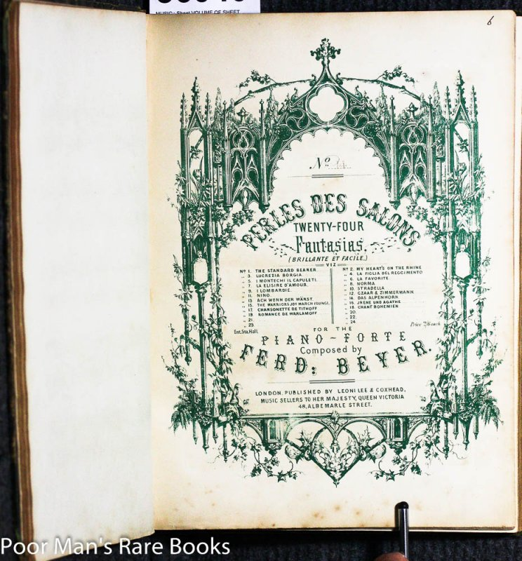 Image for VOLUME OF SHEET MUSIC COLLECTION FROM THE 1800'S