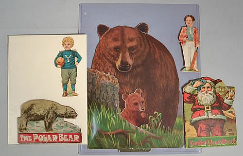 Image for VINTAGE DIE CUT OUTS *THE POLAR BEAR (C1910) DUNDEE: VALENTINE, COLOR LITHOGRAPH ILLUSTRATIONS, GOOD. *SANTA CLAUS BOOK, 016 CHRISTMAS CUT OUT SERIES (C1915) NY: CHARLES E. GRAHAM & CO., WITH COLOR LITHOGRAPH ILLUSTRATIONS, VG. *DIE-CUT ENAMELINE COLLEGE [Lbc]