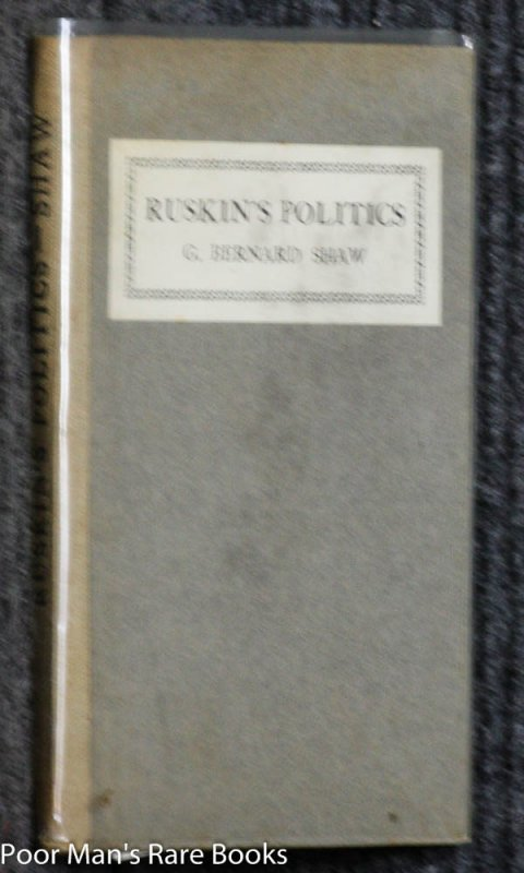 Image for RUSKIN'S POLITICS