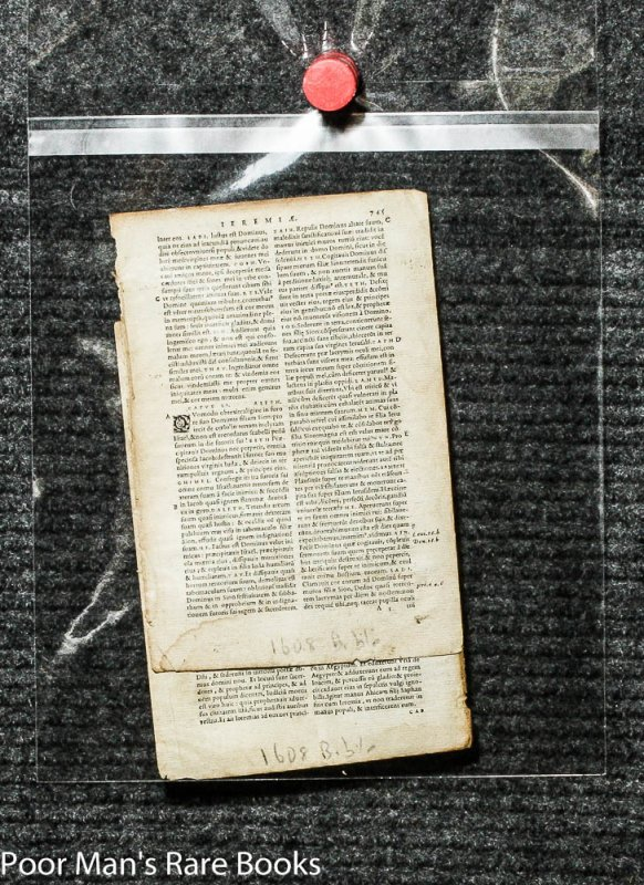 Image for 15 BIBLE LEAVES AND RELATED 1500'S TO 1800'S. [Lbc]