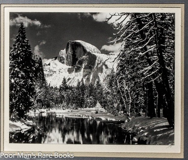 Image for HALF DOME, MERCED RIVER, WINTER, YOSEMITE VALLEY. SILVER PRINT 7.5X9.5""
