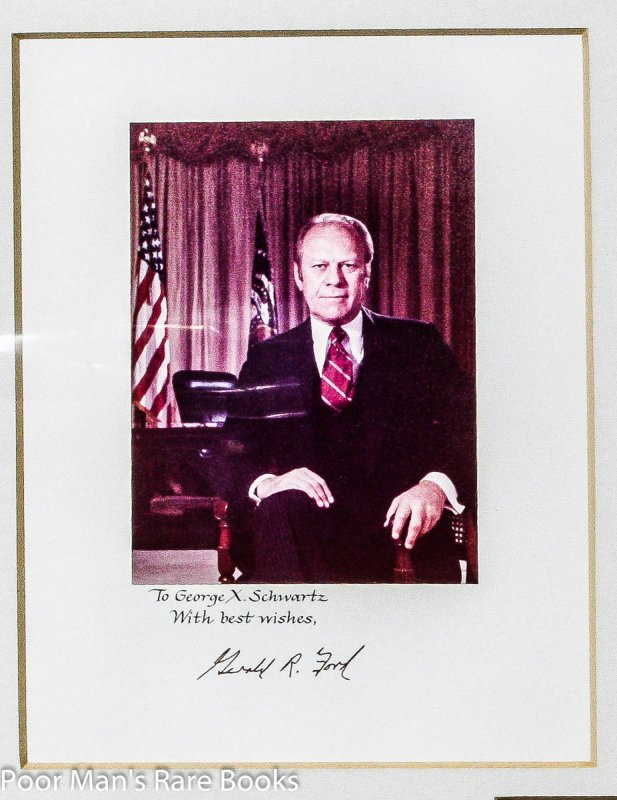 Image for PRESIDENT GERALD FORD PROGRAM SIGNED AND INSCRIBED ALONG WITH PHOTO IN HANDSOME FRAME