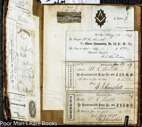 Image for BROOKYLN MASONIC SCRAPBOOK 1875