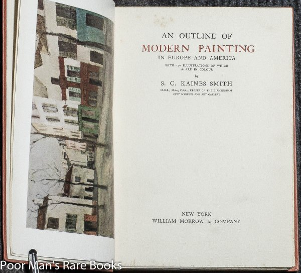 Image for AN OUTLINE OF MODERN PAINTING IN EUROPE AND AMERICA