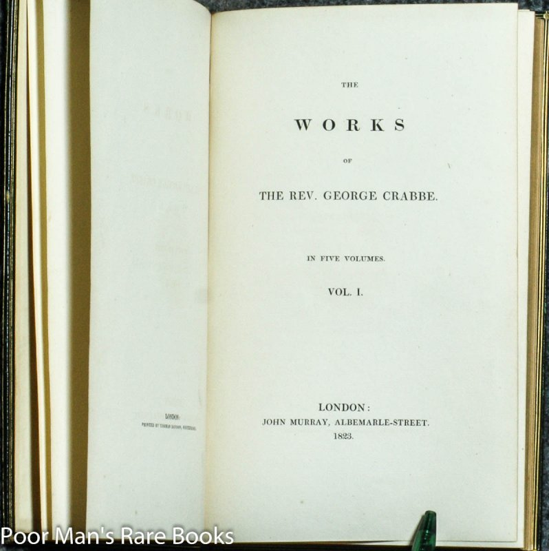Image for THE WORKS OF THE REV. GEORGE CRABBE. IN FIVE VOLUMES.