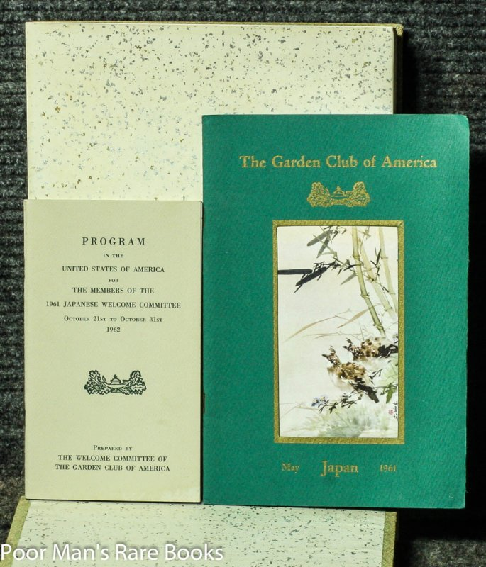 Image for A PHOTOGRAPHIC DIARY OF THE VISIT OF THE GARDEN CLUB OF AMERICA TO JAPAN [WITH 2 PROGRAM BOOKLETS]