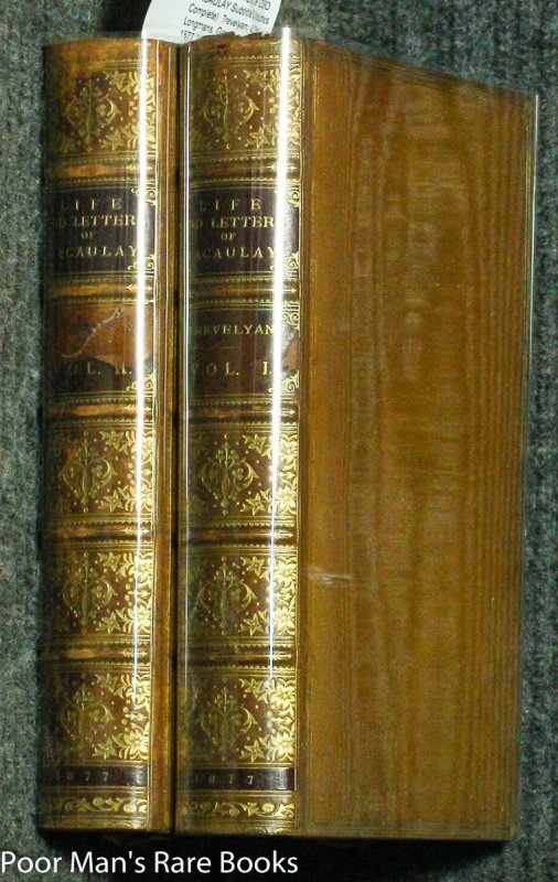 Image for THE LIFE AND LETTERS OF LORD MACAULAY  (2 Volumes Complete) S/S