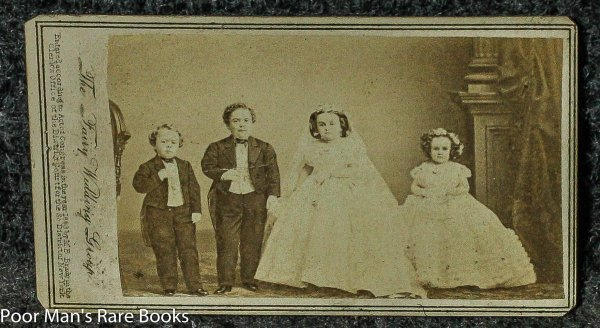 "Image for BRADY CDV TOM THUMB ""THE FAIRY WEDDING GROUP"" WITH ALL 4 SIGNATURES CIVIL WAR PERIOD 1863"