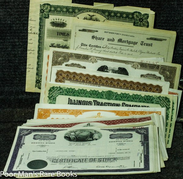 Image for Large Lot Of About 350 Mostly Modern Stock Certificates With A Few Surprises. Falstaff Brewing, Illinois Traction, Baldwin Piano, Beaver Creek Distillery, Harmonia Fire Insurance And Many Others.