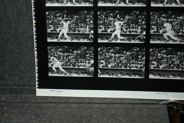"Image for CARL MICHAEL YASTRZEMSKI BASEBALL ACTION SHOT SERIES OF 16 IMAGES ON 40 X 28"" PHOTO SHEET [SIGNED]"