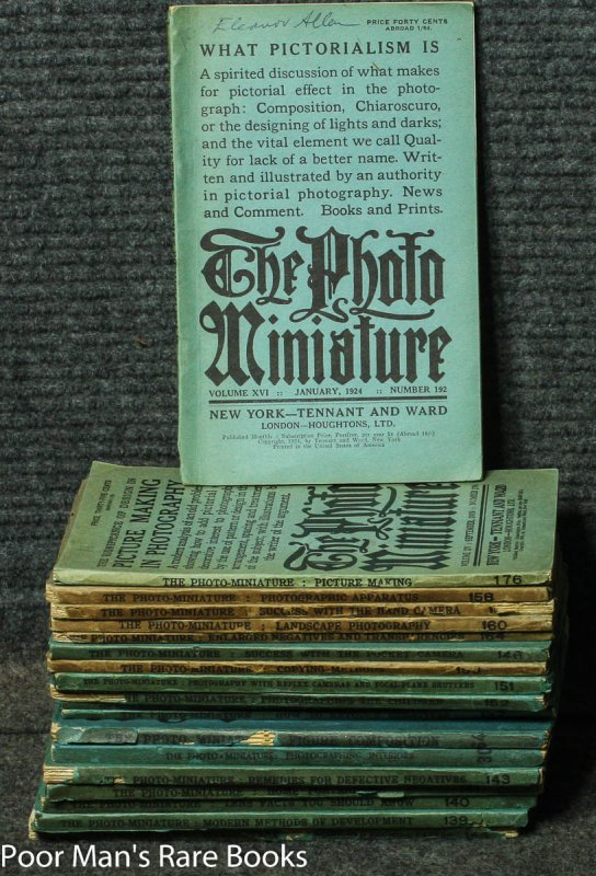 Image for THE PHOTO-MINIATURE: A MONTHLY MAGAZINE OF PHOTOGRAPHIC INFORMATION ISSUES 1901//1924 19 ISSUES.