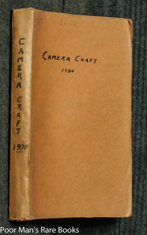 Image for CAMERA CRAFT. A PHOTOGRAPHIC MONTHLY. VOLUME XXXVII JAN TO DEC 1930