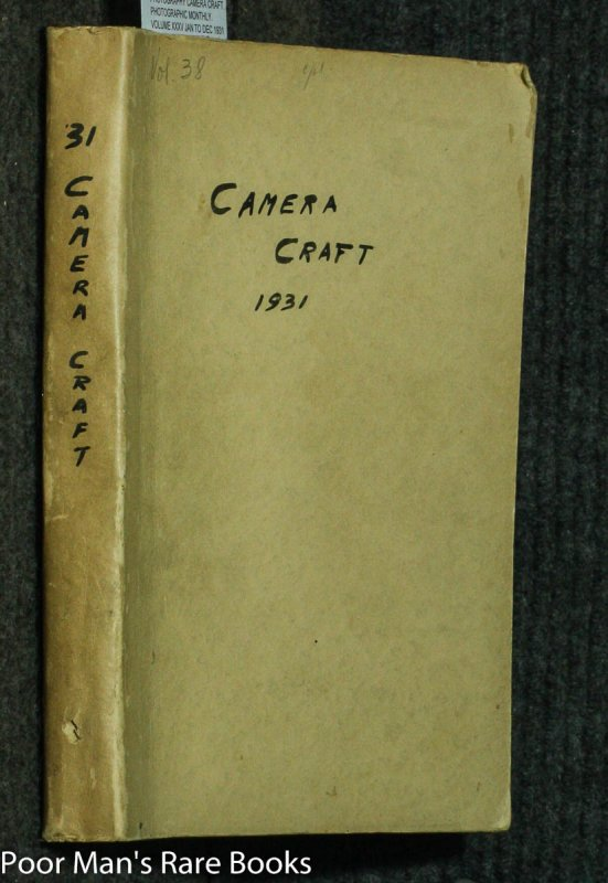 Image for CAMERA CRAFT. A PHOTOGRAPHIC MONTHLY. VOLUME XXXV JAN TO DEC 1931