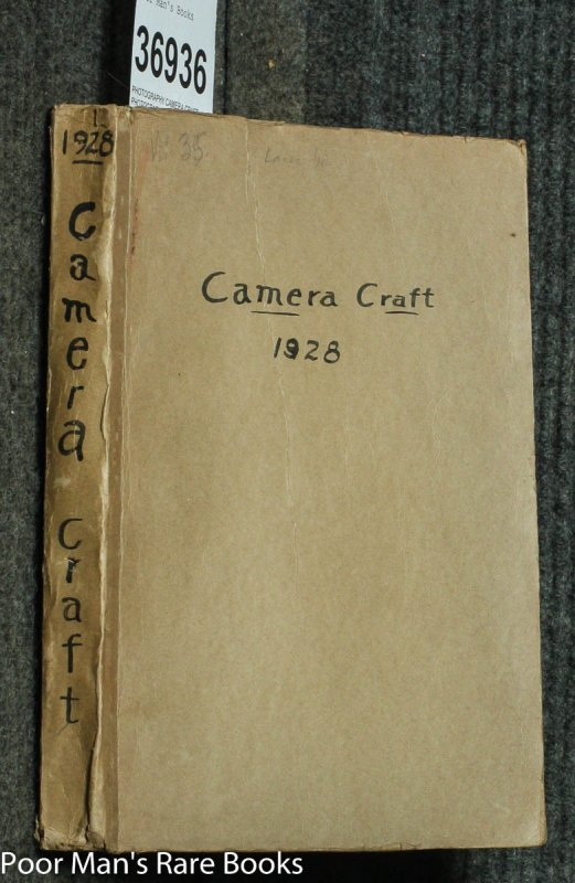 Image for CAMERA CRAFT. A PHOTOGRAPHIC MONTHLY. VOLUME XLII JAN TO DEC 1935