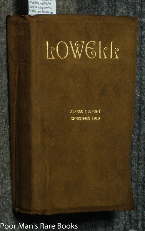 Image for THE EARLY POEMS OF JAMES RUSSELL LOWELL: INCLUDING THE BIGLOW PAPERS WITH A BIOGRAPHICAL SKETCH [DU PONT FAMILY LIBRARY]