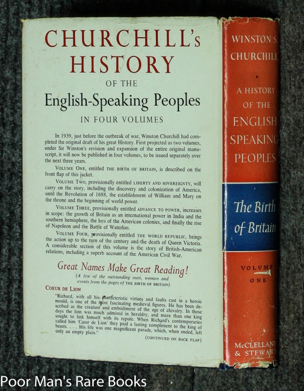Image for A History Of The English Speaking Peoples [canadian 1st]