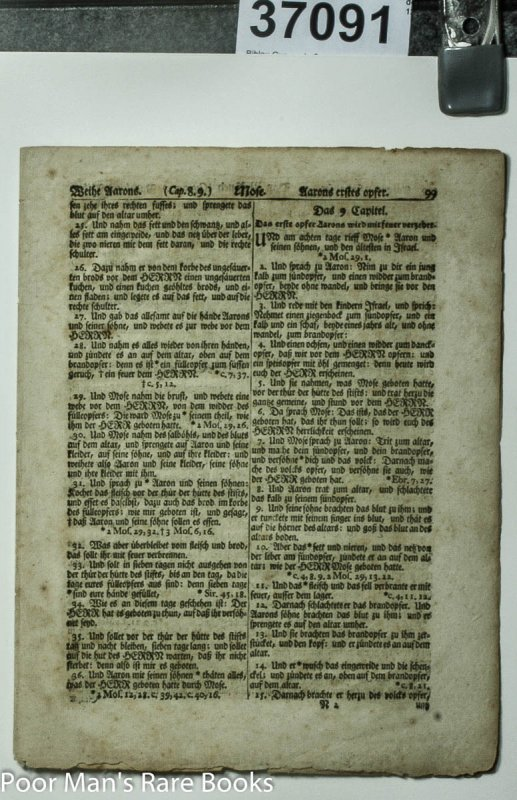 Image for Saur Bible Gun Wad Bible 1st America Of Native Materials Including Type 4 Pages 1776