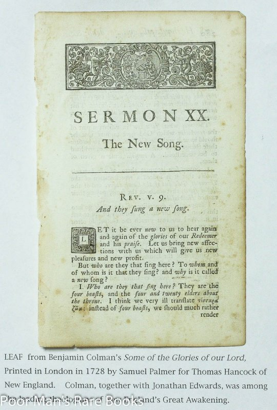 Image for Leaf From Some Of The Glories Of Our Lord And Saviour Jesus Christ 1728 Sermon XX