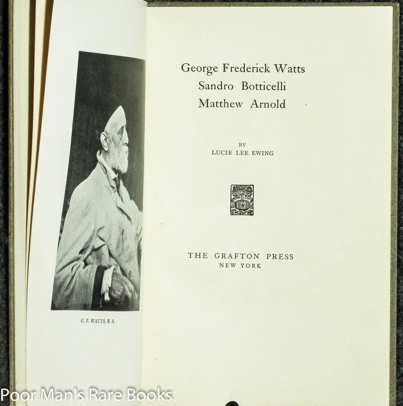 Image for George Frederick Watts, Sandro Botticelli, Matthew Arnold [signed & Dedicated]