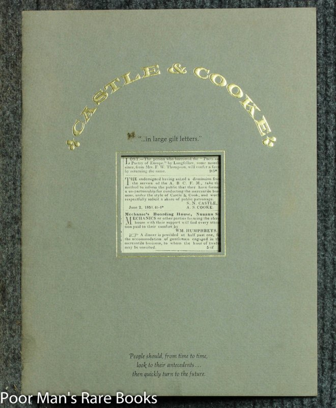 Image for Castle & Cooke : In Large Gilt Letters [ Cover Title]