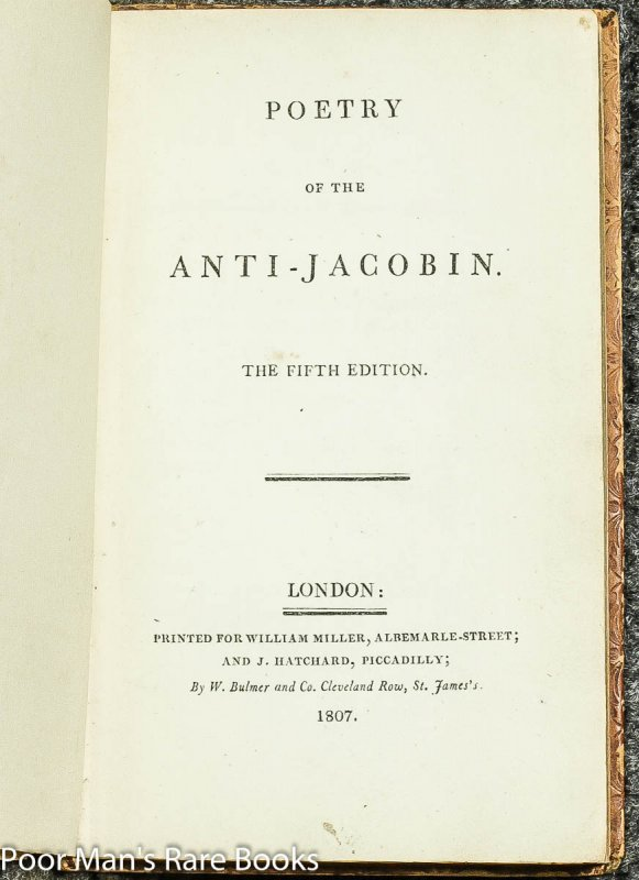 Image for Poetry Of The Anti- Jacobin