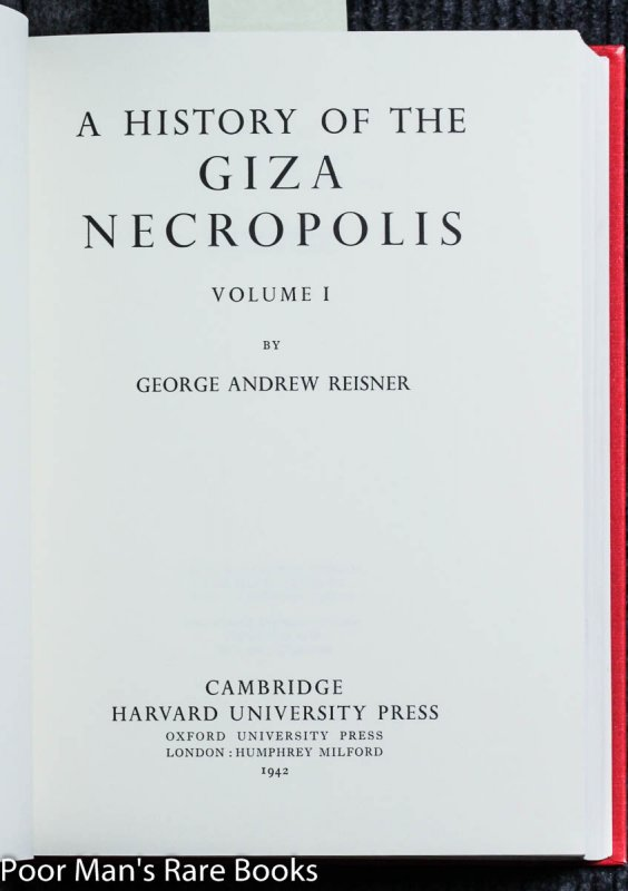 Image for A History Of The Giza Necropolis