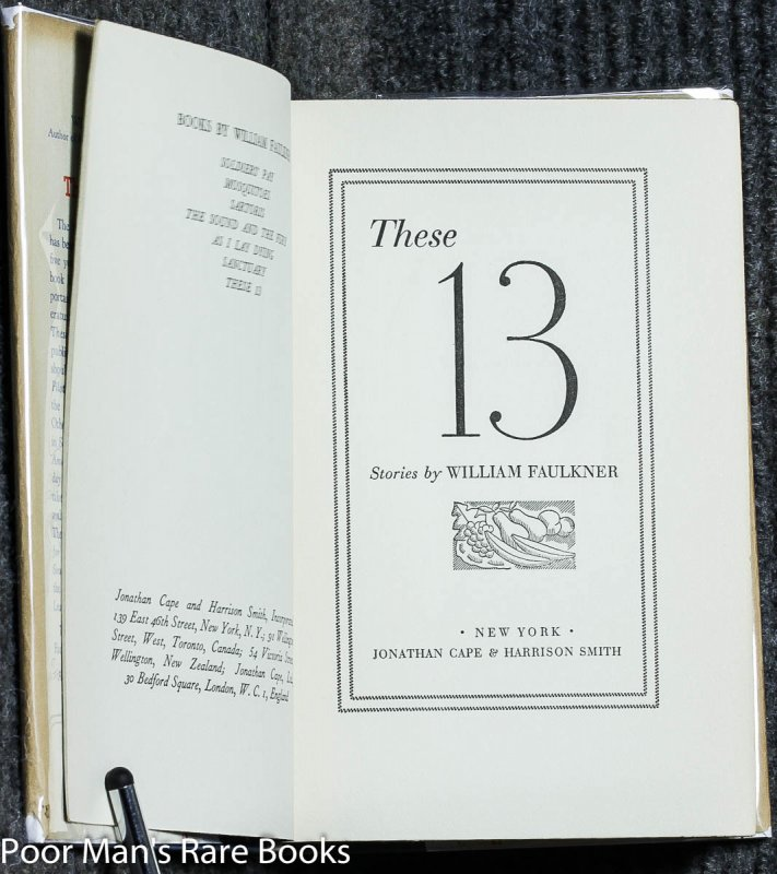 Image for These 13 Stories [1st Ed]