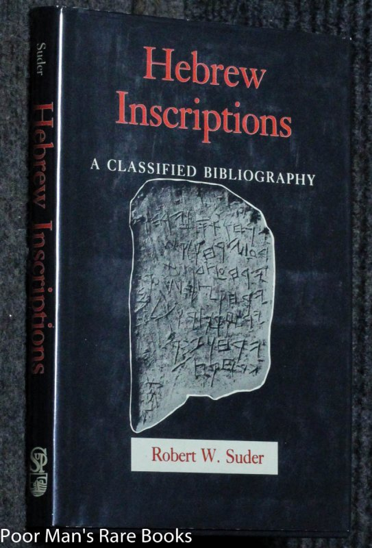 Image for Hebrew Inscriptions: A Classified Bibliography