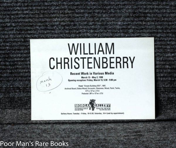 Image for William Christenberry (signed And Inscribed]