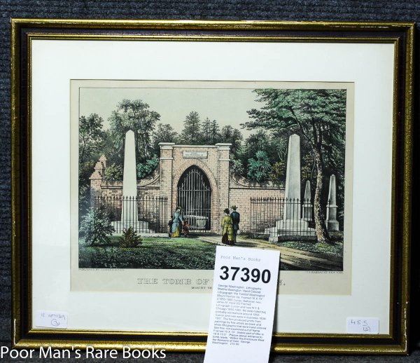 "Image for Hand Colored Lithograph 'the Tomb Of Washington' Mount Vernon Va. Framed 16 X 19"". C1857-1890"