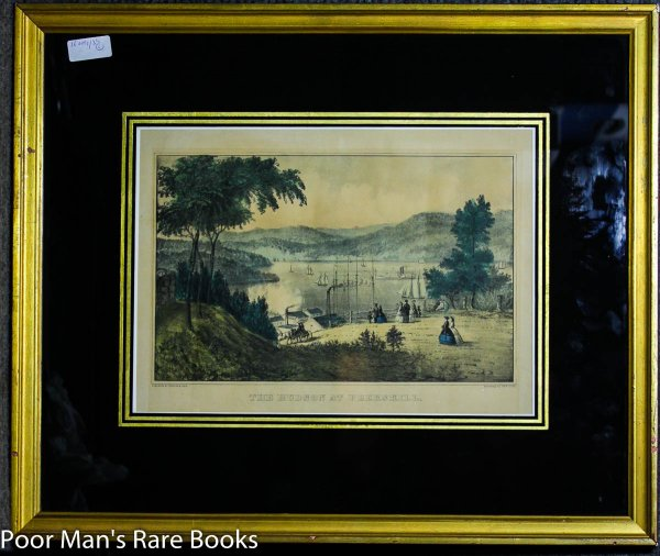 Image for Framed Lithograph The Hudson At Peekskill Currier & Ives