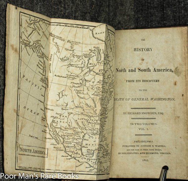Image for The History Of North And South America From Its Discovery To The Death Of General Washington [2 Fold Out Maps]