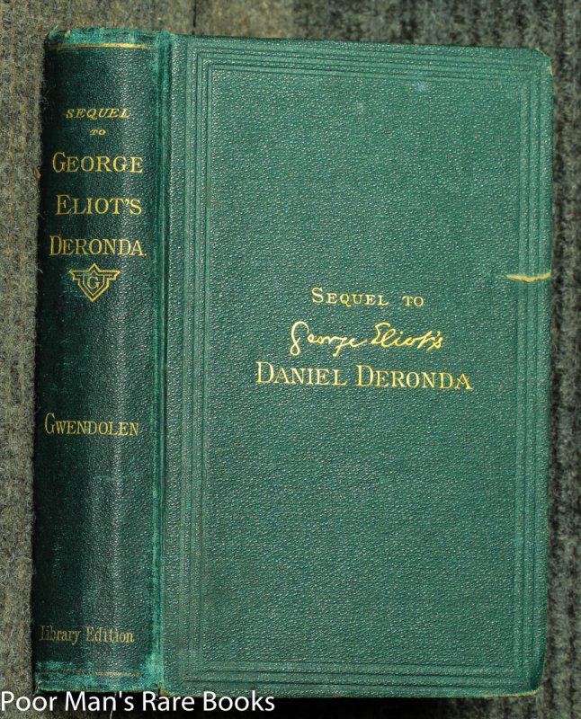 Image for Gwendolen : A Sequel To George Eliot's Daniel Deronda.