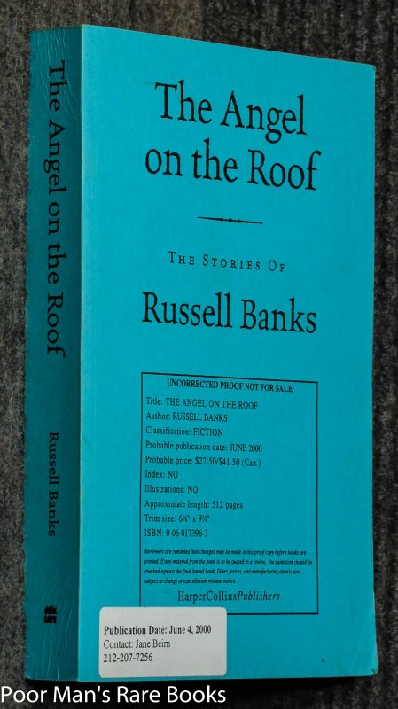 Image for Angel On The Roof: The Stories Of Russell Banks [uncorrected Proof]