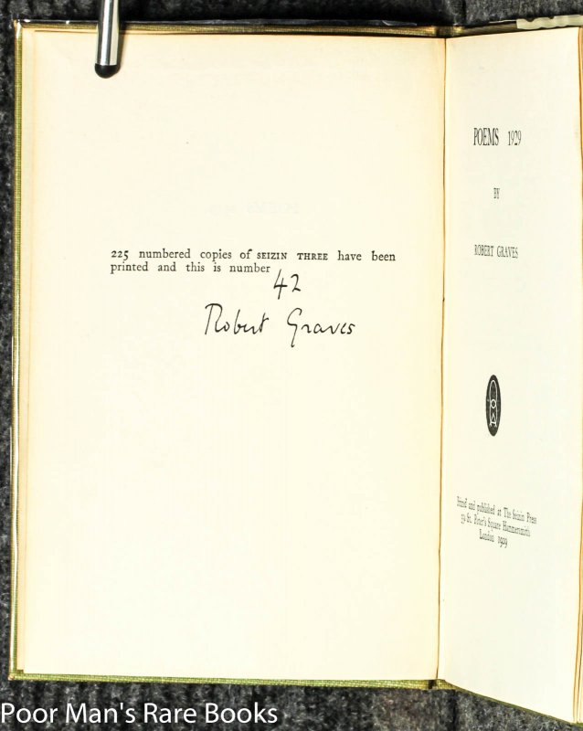 Image for Poems 1929 [signed #42 Of 225]