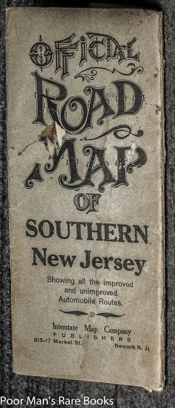 Image for Official Road Map Of Southern New Jersey : Showing All The Improved And Unimproved Automobile Routes