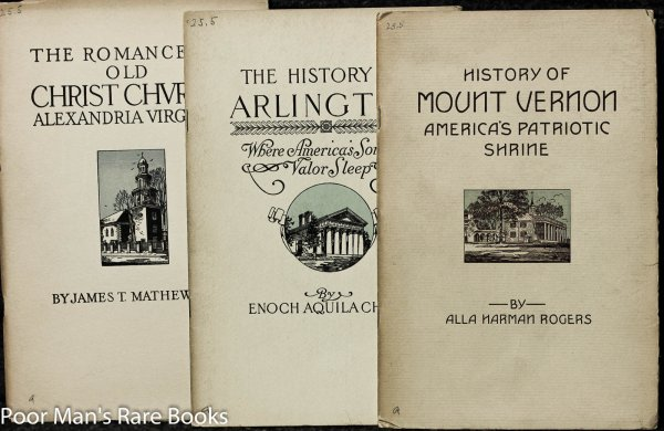 Image for Romance Of Old Christchurch + History Of Mount Vernon + History Of Arlington