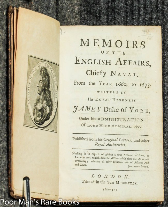 Image for Memoirs Of The English Affairs, Chiefly Naval From The Year 1660 To 1673 [1729]