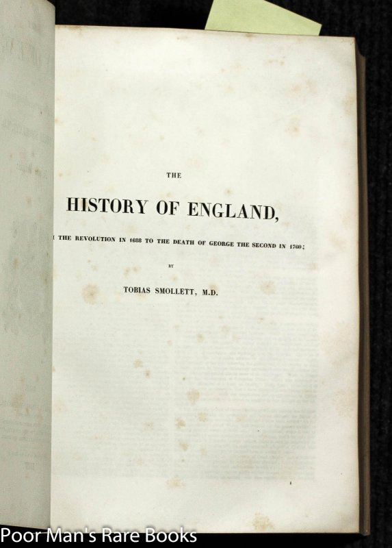 Image for The History Of England, From The Invasion Of Julius Caesar To The Revolution In 1688 [ct In One Volume]