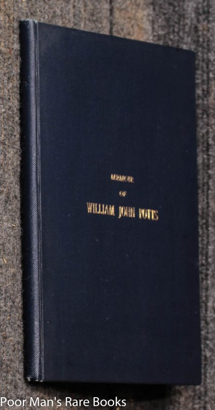 Image for Memoir Of William John Potts