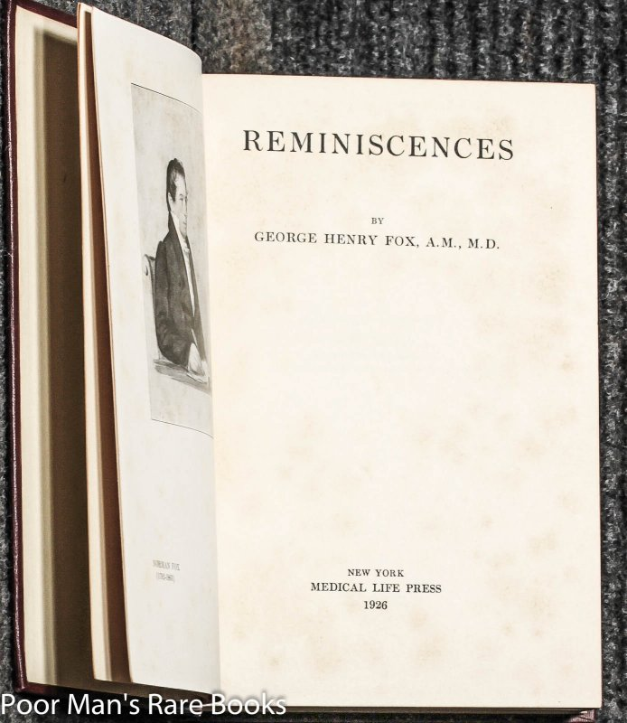 Image for Reminiscences [dedicated And Signed]]